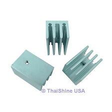 3 x Heatsink TO-220 4 Fins Aluminum - USA SELLER - Free Shipping