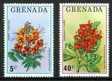 GRENADA - 1976 - Flora e fauna - Poinciana pulcherrima - Pachystachys coccinea
