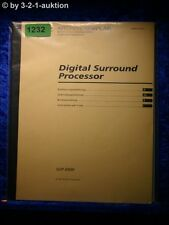 Sony Bedienungsanleitung SDP E800 Digital Surround Processor (#1232)