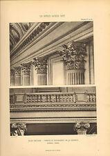 "large print 1905 "" le style louis xv1 "" ecole militaire - interior column view """