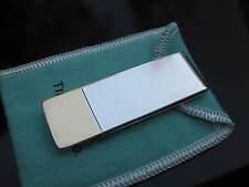 Tiffany & Co RARE VINTAGE Silver 18K Gold Stripe Money Holder Money Clip