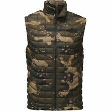 The North Face Mens Thermoball Vest Burnt Olive Green Woodchip Camo Print Size L
