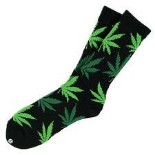 Huf Plantife Socks 420 Weed Dank Kush Dope Black & Green