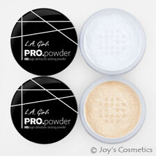 "2 L.A. GIRL HD PRO Setting Powder Set "" Translucent & Banana Yellow "" *Joy's*"