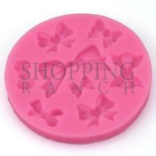 Multiple Bow Designs Silicone Mould Heart Love Present Cake Decoration