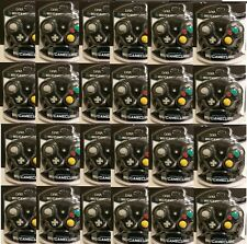24 NEW WHOLESALE LOT BLACK CIRKA CONTROLLERS FOR GAMECUBE  Wii