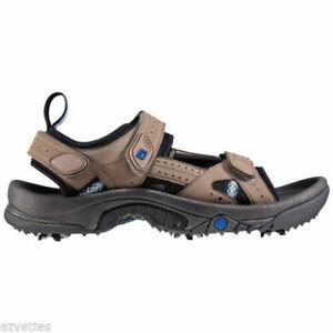 NEW! FootJoy [11] Medium Greenjoys Golf Specialty Men Golf Sandals 45318-Tan
