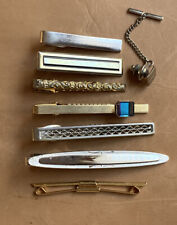Lot Of Vintage Classic Tie Bars Clips Clasps Pins Sterling Anson Retro