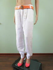 Linen Harem Loose Fit High Trousers for Women