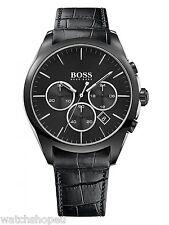 NEW HUGO BOSS 1513367 MENS ONYX CHRONOGRAPH WATCH - 2 YEAR WARRANTY