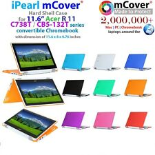 """NEW mCover Hard Shell Case for 11.6"""" Acer Chromebook R11 CB5-132T/C738T Laptop"""