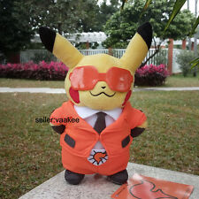 """Pokemon Go Plush Toy X Y Pikachu With Team Flare Suit Doll Pocket Monsters 8"""""""