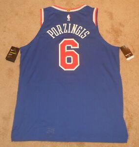 Kristaps Porzingis New York Knicks Blue Authentic Jersey sz 52 Nike New w/ tags