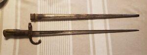 French M1874 Gras Rifle Bayonet, WW1 1874, with scabbard