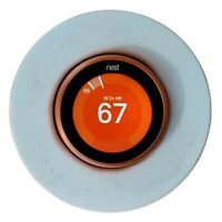 Nest Thermostat Natural Marble Wall Plate Cover/Base for E/3/2/1 Gen Jazz White