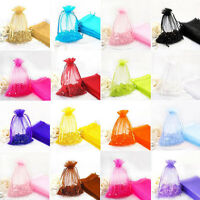 100Pcs Gauze Organza Candy Gift Bag Jewelry Packing Pouch Wedding Party Favor