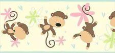 Monkey See Monkey Do on Cream Wallpaper Border SK6341B