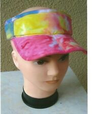 Hat with hair cap with wig hair baseball tie dye spiked brown grey or blonde