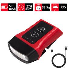 Portable USB Rechargeable COB LED Sensor Lamp Clip-on Cap Hat Light Headlamp