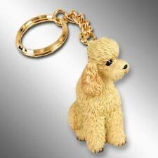 POODLE Apricot Sport Cut Dog Tiny One Resin Keychain Key Chain Ring
