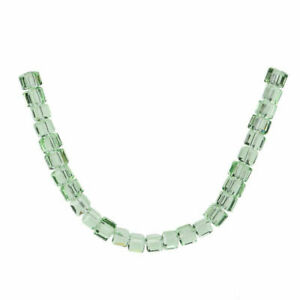 Hot 8mm 25pcs Cube Square Crystal Glass Faceted Loose Spacer Beads DIY Crafts#