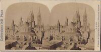 Postal-Caen Ábside la Iglesia Saint-Etienne Abadía A Hombres Vintage - Albúmina