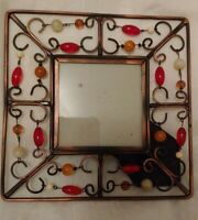 """6 """" by 6""""  Beaded Copper Frame Picture Photo Frame,Photo 2 3/4"""" Square"""