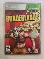 XBOX 360 PLATINUM HITS Borderlands (Microsoft Xbox 360, 2009)USED COMPLETE