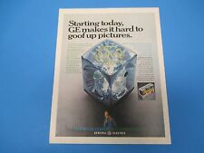 1968 Starting today, GE makes it hard to goof up pictures. Print Ad, PA011