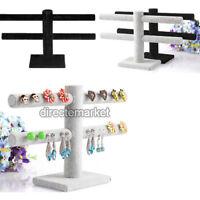 2 Tier Jewelry Hard Display Stand Holder Bracelet Chain Bangle Watch T-bar Hot