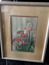By Carmel Foset Tiger lillies & peach ireses/