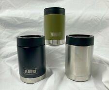 FLUURI 12oz. Can VACUUM Insulator - Stainless Steel - CUSTOM designs