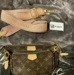 Louis Vuitton Multi Pochette Accessories Rose bandouliere   STRAP ONLY!!