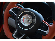 For Jeep Renegade 2016-2017 Chrome Steering Wheel Cover Car Styling Accessories