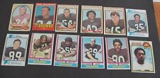 Lot of 12 CLEVELAND BROWNS 1970s Football Cards