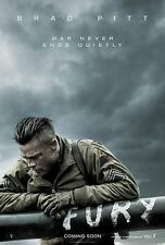 Fury (2014) Movie Poster (24x36) - Brad Pitt, Shia LaBeouf, Logan Lerman NEW v2