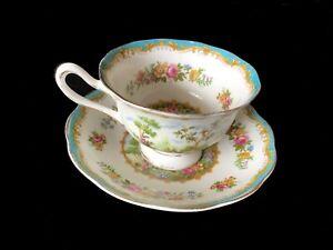 Royal Albert CHELSEA BIRD 2pc Duo Tea Cup & Saucer  1st  c1940's