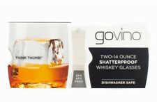 govino TopRack Shatterproof 14-oz Whiskey Glasses x 2 BPA Free Dishwasher Safe