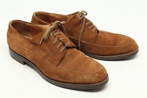 Polo Ralph Lauren Mens Dress Shoes 10 D Brown Suede Itshide Commando Sole Italy