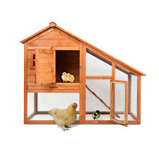 Wooden Chicken Coop Rabbit Hutch Pet Cage Wood Small Animal House - 51x44.5x26