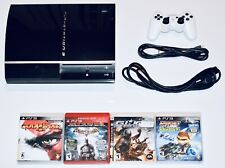 Sony PS3 Console Bundle 80GB 4 Games + 1 Controller Playstation 3 Works!