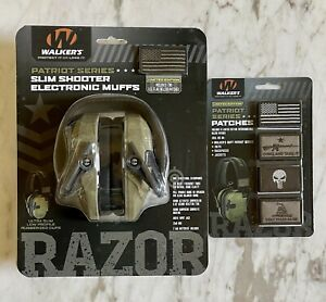 NEW Electronic Ear Noise Cancel Protection Muffs Headphones Walkers RAZOR Patch+