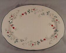 "Pfaltzgraff Winterberry 14"" Oval Serving Platter Plate Deep Dish Tray Christmas"