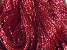 DMC Light Effects Embroidery Floss Color E815 Dark Red Ruby Precious Metal Effec