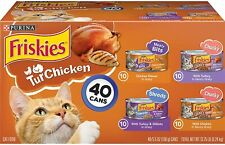 Purina Friskies Canned Wet Cat Food Treat. Chicken & Turkey Variety Pack 40 Can