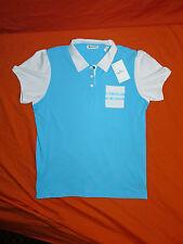 Aquascutum Women's Short Sleeve Golf Shirt Aqua Blue Size XL NWT NEW!!
