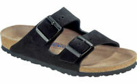 NEW - Birkenstock Arizona Soft Footbed Black Suede Leather  - 38 7 N M #40