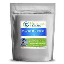 180 - Vitamin B COMPLEX , B1, B2, B3, B6, B12, Folic Acid - UK Manufacured