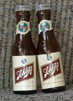 "Vintage Schlitz Export 4-1/2"" Miniature Beer Bottle Salt & Pepper Shakers Set"