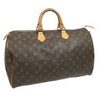 LOUIS VUITTON SPEEDY 35 HAND BAG MONOGRAM CANVAS LEATHER M41524 33361